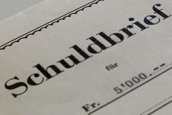 Anwalt Zug Schuldbrief